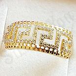 Inel in culoarea aurului 14K zirconii albe - ZS1651