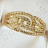 Inel in culoarea aurului 14K zirconii albe - ZS1652