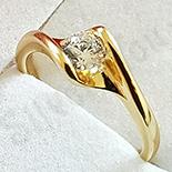 Inel in culoarea aurului 14K zirconii albe - ZS1656