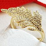 Inel in culoarea aurului 14K zirconii albe - ZS1653