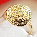 Inel in culoarea aurului 14K zirconii albe - ZS1650
