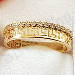 Inel in culoarea aurului 14K zirconii albe - ZS1654