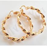 Cercei auriti cu aur de 18K - 6 cm - AB01