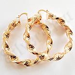 Cercei auriti cu aur de 18K - 5 cm - AB01