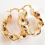 Cercei auriti cu aur de 18K - 3.5 cm - AB01