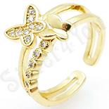 Inel in culoarea aurului 14K zirconii albe - ZS1773