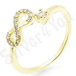 Inel in culoarea aurului 14K zirconii albe - ZS1779