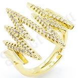 Inel in culoarea aurului 14K zirconii albe - ZS1771