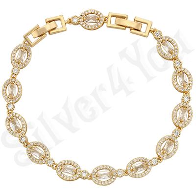 Bijuterii in Culoarea Aur 14K - Bratara aurita cu aur de 14K / 17-20.5 cm - ZS1761