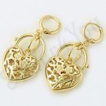 Cercei auriti cu aur de  14K - 4.3 cm - ZS1751