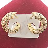 Cercei auriti cu aur de 14K zirconii albe - 1.8 cm - ZS1801