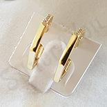 Cercei auriti cu aur de 14K zirconii albe - 1.8 cm - ZS1806