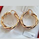 Cercei auriti cu aur de 18K - 4 cm - AB83