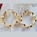 Cercei auriti cu aur de 14K - 4 cm - AB84
