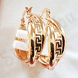 Cercei auriti cu aur de 18K - 2.5 cm - AB86