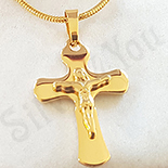 Crucifix inox cu lant inclus - BV133A