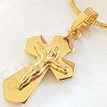 Crucifix inox aurit cu lant inclus - PK809A