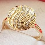 Inel in culoarea aurului 14K zirconii albe - ZS1956