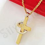 Cruce din inox cu rugaciune si inel cu lant inclus - LR376A