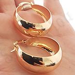 Cercei auriti cu aur de 18K - 2.2 cm - AB71