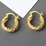 Cercei auriti cu aur de 14K - 2.3 cm - AB88