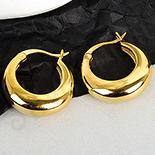 Cercei auriti cu aur de 14K - 1.7 cm - AB89