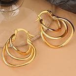Cercei auriti cu aur de 14K - 2.8 cm - AB90
