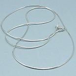 SETURI Pietre Semipretioase - Lant argint lucios 44 cm/1 mm - LT62A