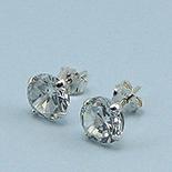 Bijuterii Argint - Cercei argint cu  zircon alb/4 mm - CT24A