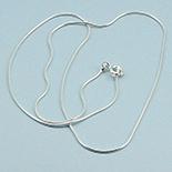 Bijuterii argint cu marcasit - Lant argint cilindric lucios 50 cm/1 mm - LT64