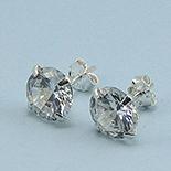 Bijuterii Argint - Cercei argint si zircon alb/6 mm - CS32C