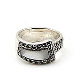 SETURI Argint si Marcasit - Inel argint cu marcasit si sidef - IS408A