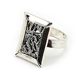 SETURI Argint Simplu - Inel argint creponat - IT603