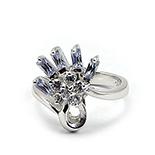 INELE ARGINT - Noutati! - Inel argint rodiat cu zirconiu alb si mov - IZ38