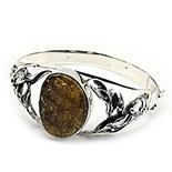 Bijuterii argint cu chihlimbar - Bratara argint cu chihlimbar - BC211