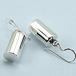 CERCEI - Cercei argint cilindru lucios - CL8