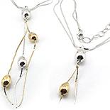 SETURI Argint Simplu - Lant argint aurit - LK87