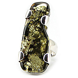 Bijuterii argint cu chihlimbar - Inel argint cu chihlimbar - UNICAT/17.6 mm - IO309