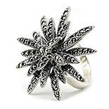 - Inel marcasit floare din argint - IO243