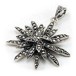 SETURI Argint si Marcasit - Pandantiv marcasit floare din argint - PO243