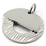 PANDANTIVE - Medalion din inox placute suprapuse - PI3