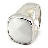 SETURI Pietre Semipretioase - Inel argint si milky stone - IO500