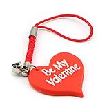 "- Breloc telefon mobil - ""Be My Valentine"" - BP8"