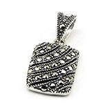 SETURI Argint si Marcasit - Pandantiv argint cu marcasit - PK57