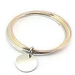 SETURI Argint Simplu - Bratara argint aurit - BK1