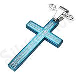 Pandantive crucifix - Pandant inox cruce albastra - BF1250