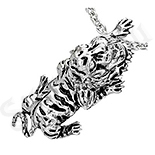 Bijuterii Inox - Pandant inox tigru gri - BF1261