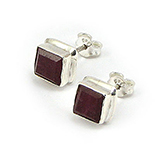 - Cercei argint cu piatra rosie - CF156