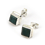 - Cercei argint cu piatra verde - CF157