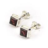 - Cercei argint cu piatra rosie - CF155